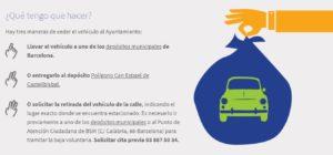 grúa municipal barcelona coches abandonados cesion